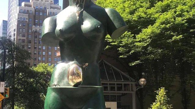 "Salvador Dali, ""Space Venus,"" (before theft), (photo courtesy Chali-Rosso Gallery)"