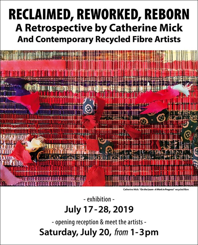"Catherine Mick, ""Reclaimed, Reworked, Reborn,"" 2019"