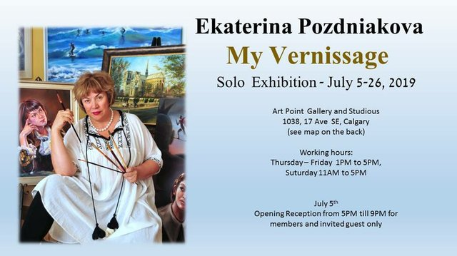 "Ekaterina Pozdniakova, ""My Vernissage,"" 2019"