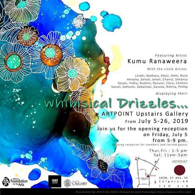 """Kumu Ranaweera, """"Whimisical Drizzles,"""" 2019"""