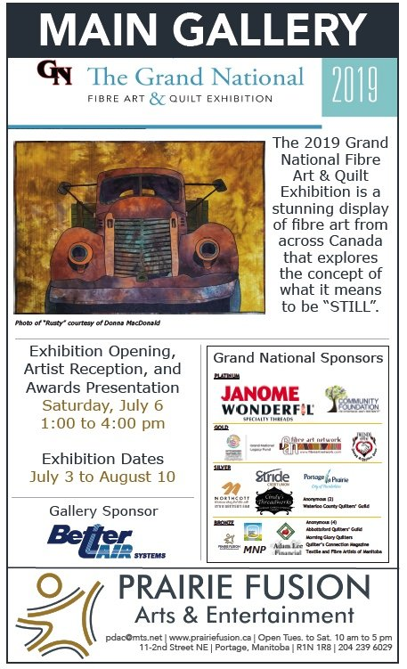 "Prairie Fusion Arts, ""The Grand National  Fibre Art & Quilt Exhibition,"" 2019"