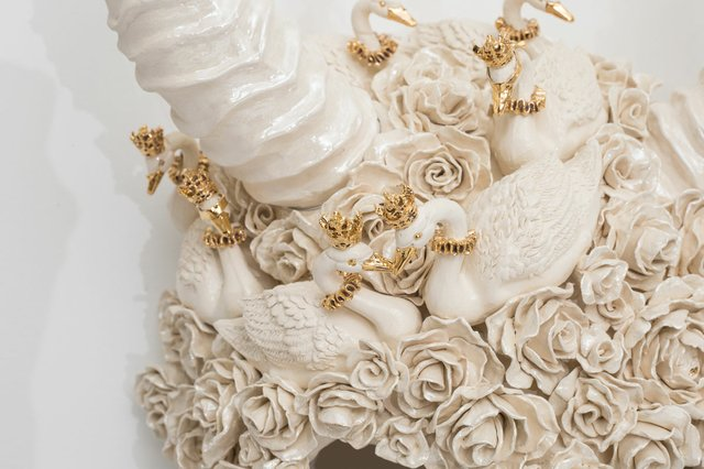 "Susannah Montague, ""Crown of Swans"" (detail), 2019"