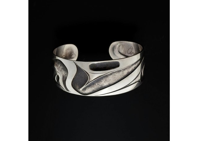 "Jay Simeon (Haida/Blackfoot), ""Origin of the U-Form Bracelet,"" 2004"