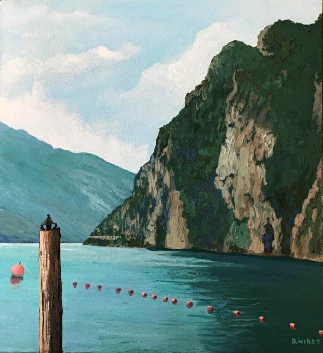 """Barbara Hirst, """"Lake Garda Morning,"""" 2019"""