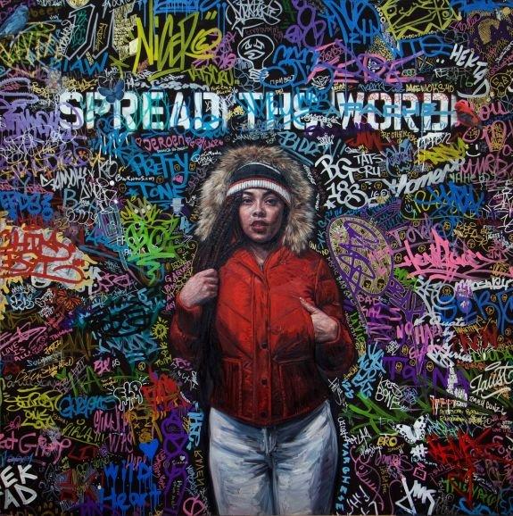 "Tim Okamura, ""Spread the Word,"" 2017"