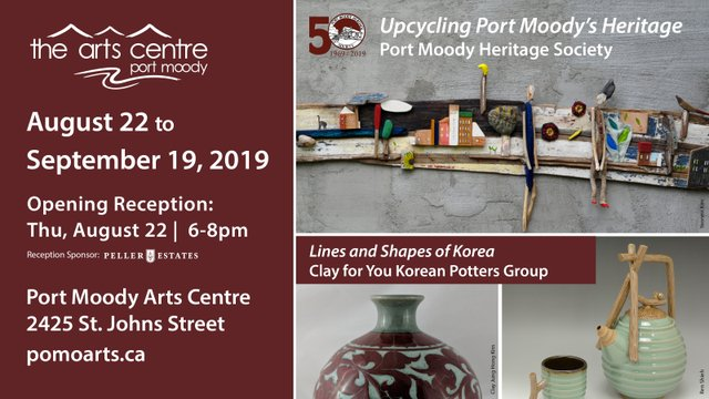 "Port Moody Arts Centre, ""Upcycling Port Moody's Heritage and Lines and Shapes of Korea,"" 2019"