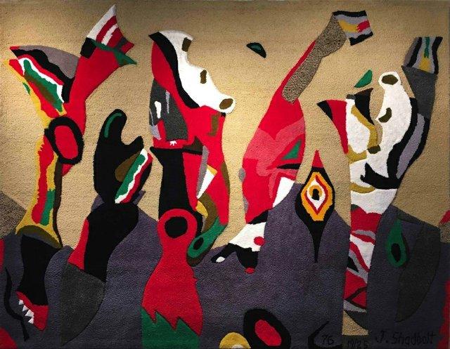 """Jack Shadbolt, """"Tapestry,"""" 1976"""
