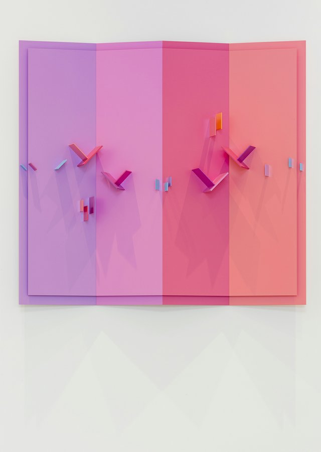 """Eli Bornstein, """"Quadraplane Structurist Relief, No. 15 II,"""" 2016–2017"""