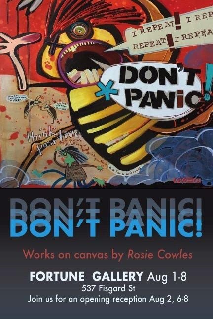 "Rosie Cowles, ""Don't Panic,"" 2019"