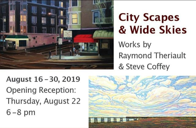 "Raymond Theriault & Steve Coffey, ""City Scapes & Wide Skies,"" 2019"