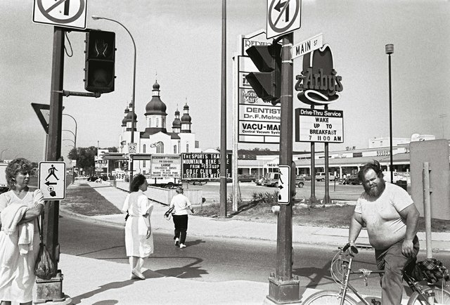 "John Paskievich, ""Main Street and Redwood Avenue,"" from the series North End, Winnipeg, circa 1985"