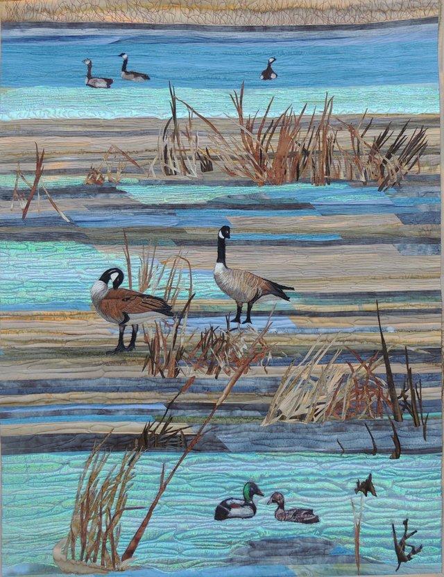 "Coreen Zerr, ""Ducks and Geese,"" 2017"