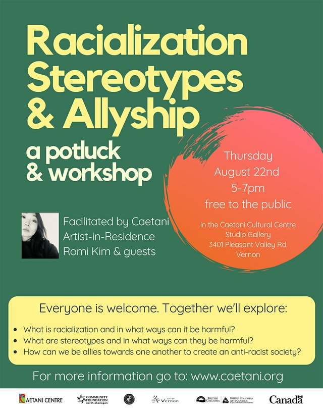 """Romi Kim, """"Sharing experiences and broadening connection: a potluck and free workshop on racialization, stereotypes and allyship,"""" 2019"""