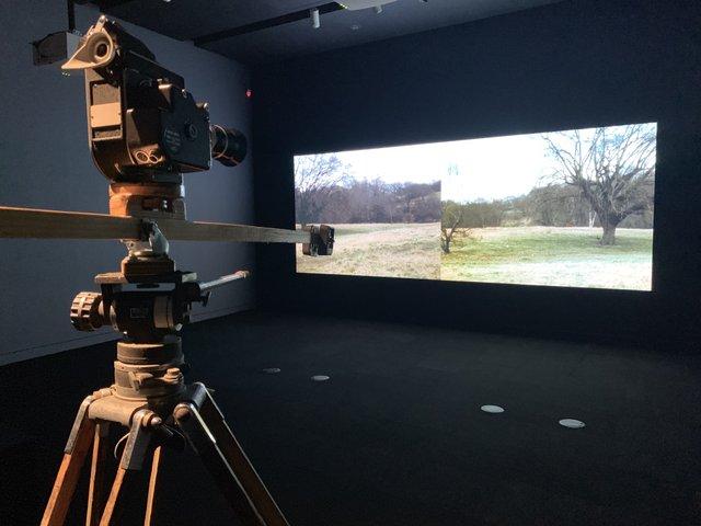 "Chris Welsby, ""Wind Vane,"" 1972, digital projection + installation"