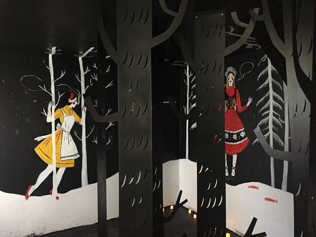 """Jessica Richter, """"The Black Forest,"""" 2019, detail of """"Einwanderin"""" installation inhouse near Nokomis, Sask. (courtesy of the artist)"""