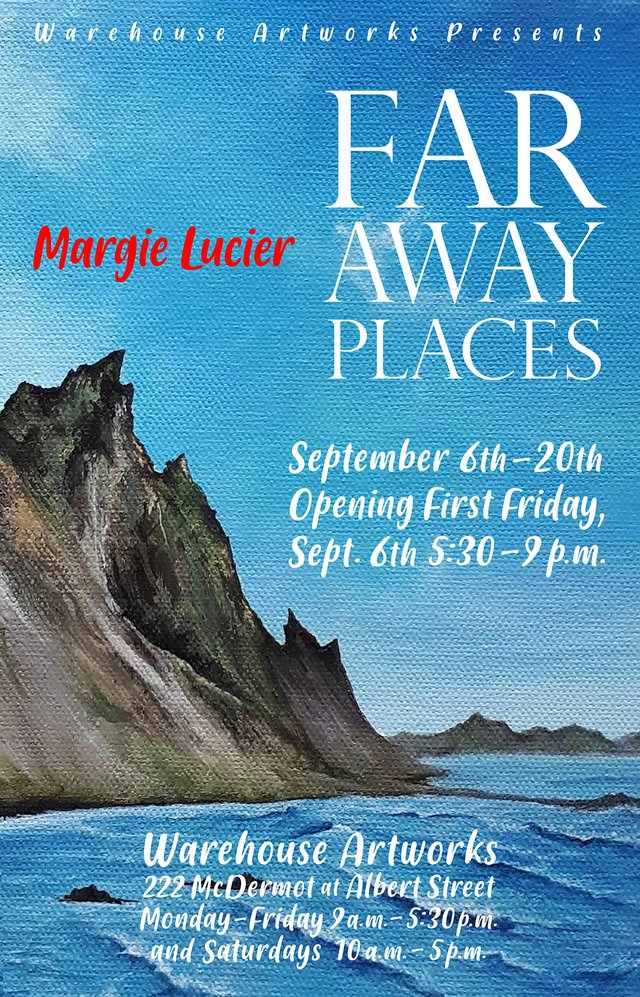 "Margie Lucier, ""Far Away Places,"" 2019"