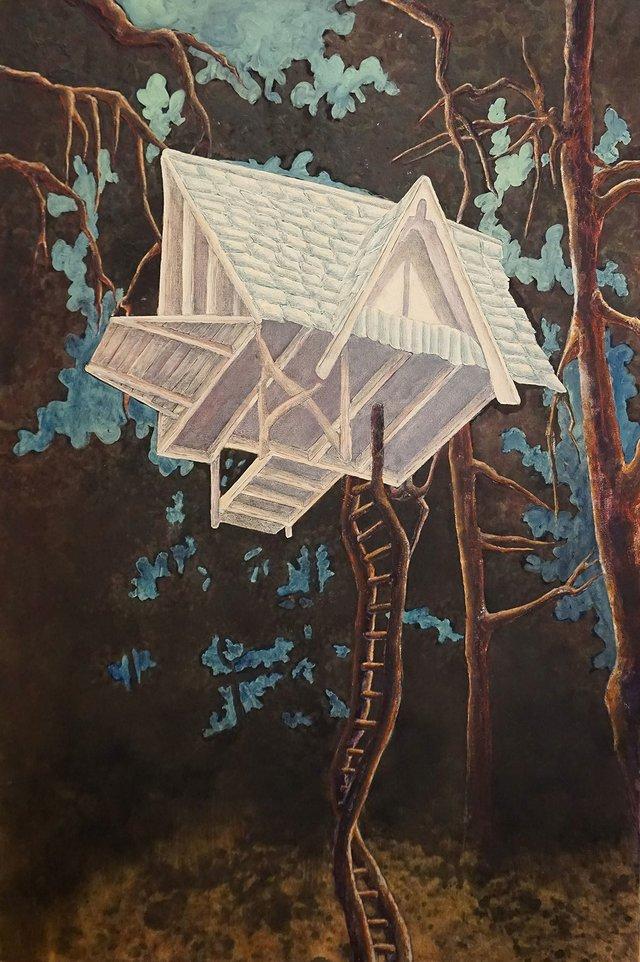 """Noemi de Bruijn, """"White Treehouse,"""" 2019"""