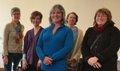 Rural Arts Mentorship Program (RAMP) Exhibition artists Gwen Baryla, Yvette Cuthbert, Tara Leach, Lisa Lysack and Heather Martens Rempel