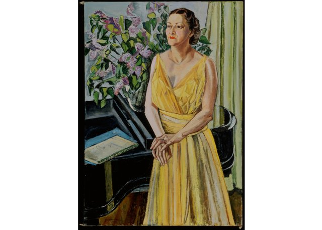 "Paraskeva Clark's ""Portrait of Frances Adaskin,"" from the portrait collection at Library and Archives Canada, is on display at the Glenbow in Calgary as part of the show ""Ladylikeness."""