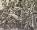 """Giovanni Battista Scultori, """"The River God Po and a Putto (detail),"""" 1538"""