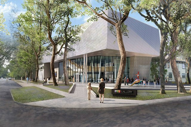 A digital rendering shows what the NEXT Gallery could look like. (Courtesy HCMA Architecture + Design)