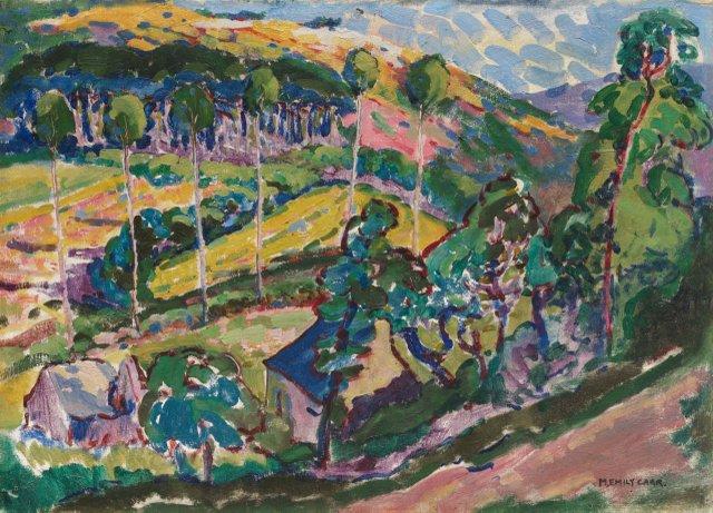 """Emily Carr, """"Le Paysage,"""" 1911"""