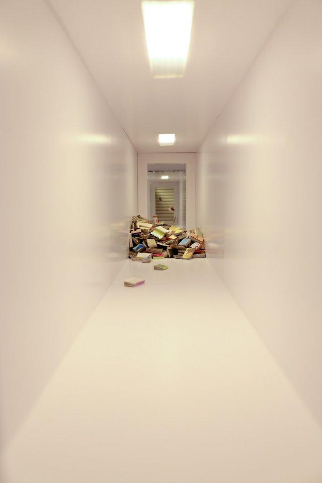 """Erika Dueck, """"Untitled (Floating Books),"""""""