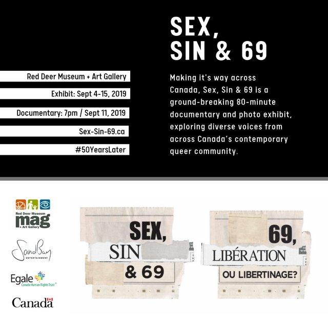 "Red Deer Museum and Art Gallery, ""Sex, Sin & 69,"" 2019"