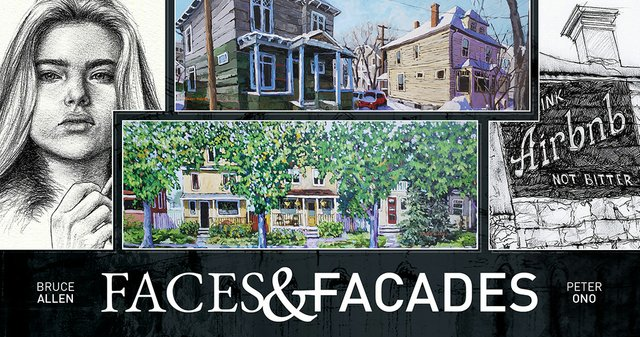 "Bruce Allen and Peter Ono, ""Faces and Facades,"" 2019"