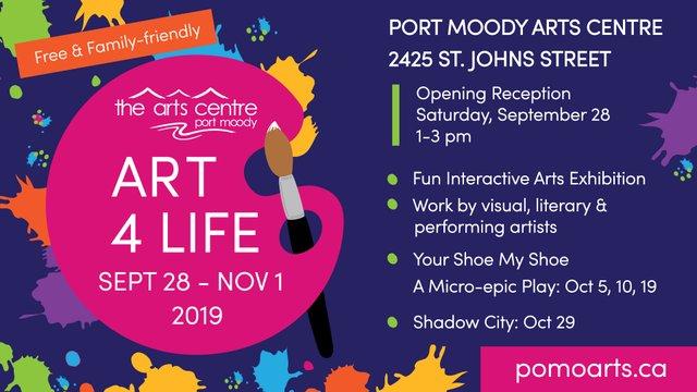 """Port Moody Arts Centre, """"Art 4 Life,"""" 2019"""