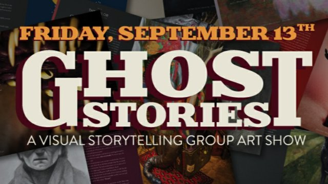 """Ghost stories: A visual storytelling group art show,"" 2019"