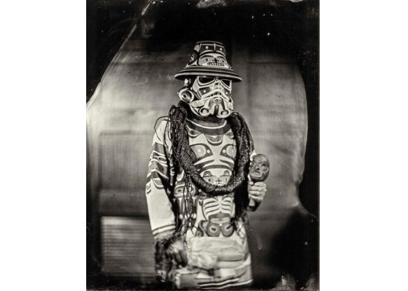 "Will Wilson, ""K'ómoks Imperial Stormtrooper (Andy Everson),"" Citizen of the K'ómoks First Nation , 2017"