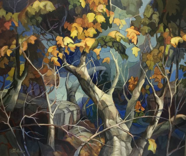 "Christine Gollner, ""West Coast Maples,"" 2019"