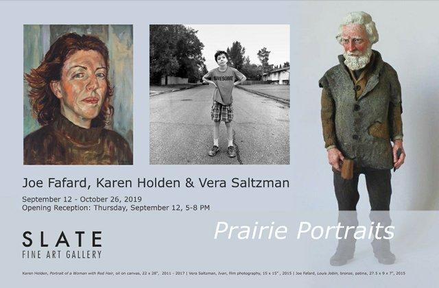 """Joe Fafard, Karen Holden & Vera Saltzman, """"Prairie Portraits,"""" 2019"""