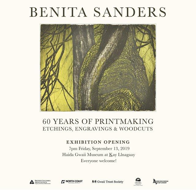 """Benita Sanders, """"60 Years of Printmaking, Etchings. Engravings & Woodcuts,"""" 2019"""