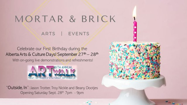 "Mortar & Brick, ""Birthday Celebration,"" 2019"