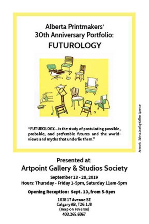Alberta Printmakers' 30th Anniversary Protfolio: Futurology, 2019
