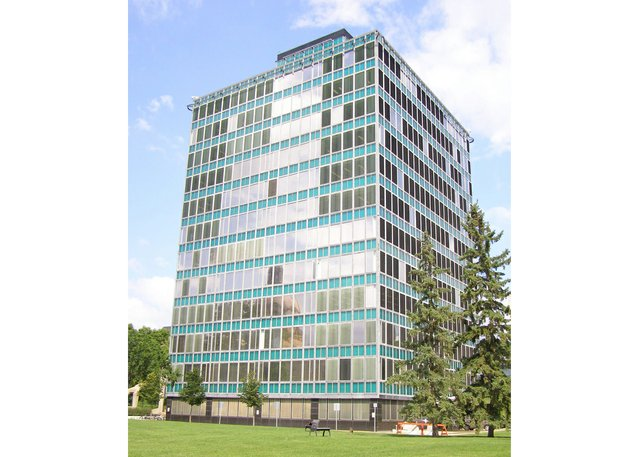 Designed for Alberta Government Telephones in 1953 by Rule Wynn and Rule Architects