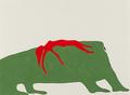 "Sandra Meigs,""Study for Terre Verte. Buffalo Jump. McIntyre Ranch,""  2018"
