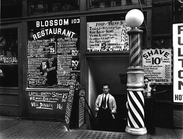 "Berenice Abbott, ""Blossom Restaurant, 103 Bowery, Manhattan,"" 1935"