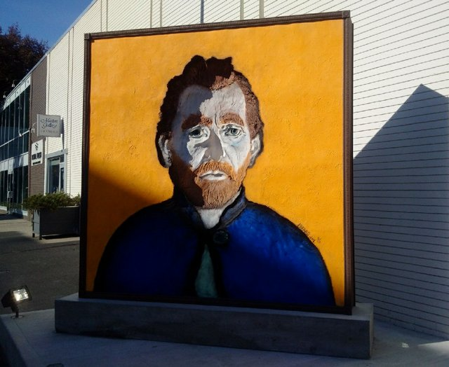 """Joe Fafard, """"Van Gogh Observes,"""" ed 2/3, bronze 8' x 8'"""
