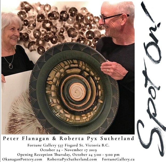 """Peter Flanagan & Roberta Pyx Sutherland, """"Spot On!,"""" 2019"""