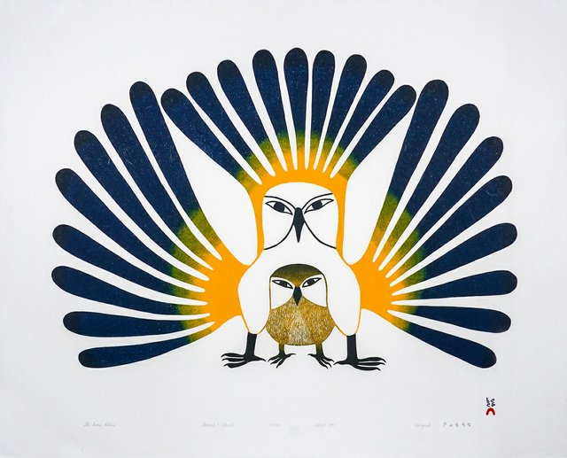 "Kenojuak Ashevak, ""The Sun's Return,"" 1993"