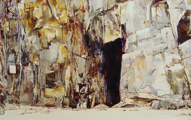 "David Janzen, ""St. Ninian's Cave,"" 2013"