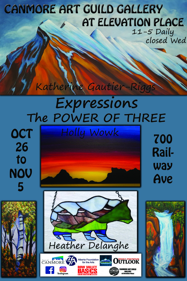 """Katherine Gauthier-Riggs, Holly Wowk and Heather Delanghe, """"Expressions, The POWER OF THREE,"""" 2019"""