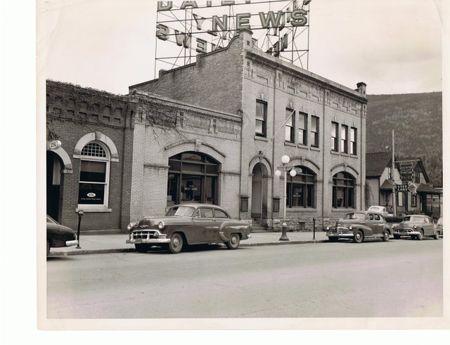 """Touchstones Nelson Archives, """"The Nelson Daily News building in the 1950s,"""""""