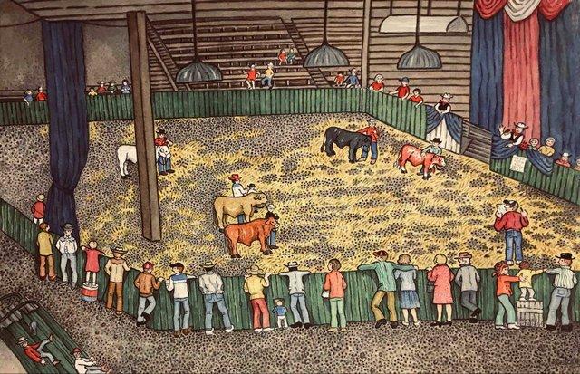 """Hazel Litgus, """"Innisfail Bull Sale,"""" nd"""