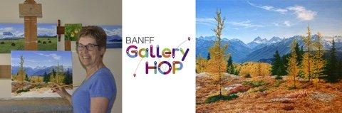 """Jean Pilch, """"Banff Gallery Hop,"""" 2019"""