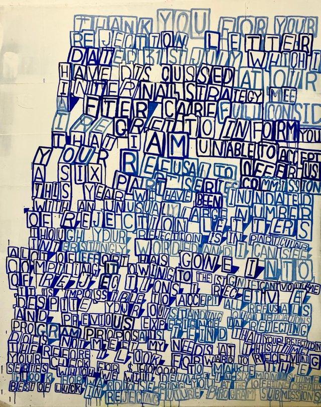 """Graham Gilmore, """"Rejection Letter,"""" 2012"""