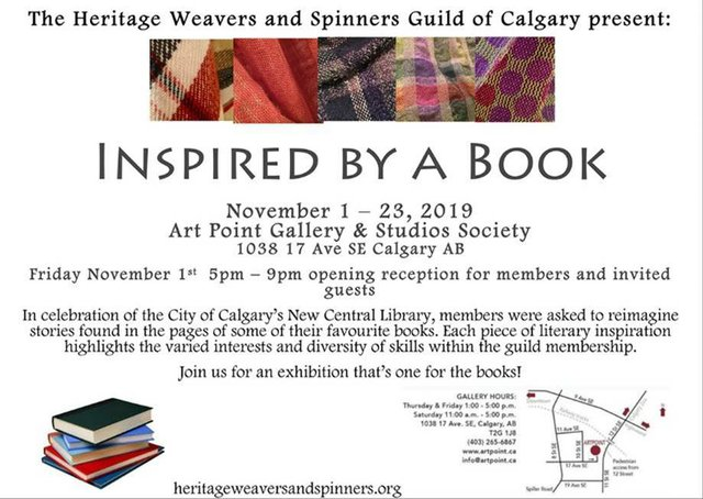 "The Heritage  Weavers and Spinners Guild of Calgary, ""Inspired by a Book,"" 2019"